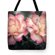 Muted Pink Roses Tote Bag