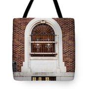 Mutual Aid Historic Bluilding Tote Bag