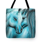 Mutual Companions- Fine Art Horse Artwork Tote Bag