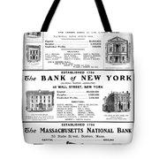 Mutual Funds, 1901 Tote Bag