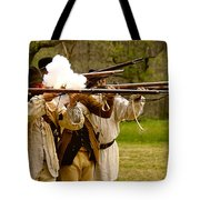 Muzzle Fire Tote Bag by Mark Miller