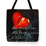 My All - Love Romantic Art Valentine's Day Tote Bag