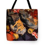 My Battle Scarred Roller Derby Skates  Tote Bag