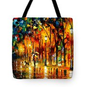 My Best Friend - Palette Knife Oil Painting On Canvas By Leonid Afremov Tote Bag