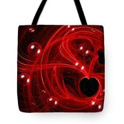 My Cosmic Valentine Tote Bag by Peggy Hughes
