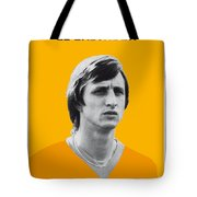 My Cruijff Soccer Legend Poster Tote Bag by Chungkong Art