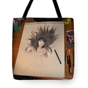 My Drawing Of A Beauty Coming Alive Tote Bag