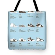 My Evolution Sneaker Minimal Poster Tote Bag by Chungkong Art