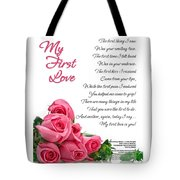 My First Love Poetry Art  Tote Bag