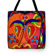 My Funny Little Clown Face - Color Love Tote Bag