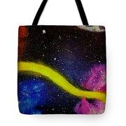 My Galaxy In Blue Cross Process Tote Bag