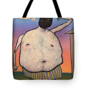 My Head Is A Raisin. Tote Bag by James W Johnson