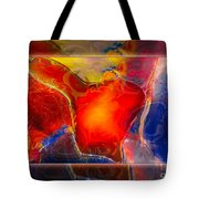 My Heart On My Sleeve An Abstract Painting Tote Bag