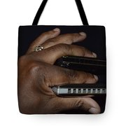 My Afro Blues Harmonica - Double Play Blues Tote Bag