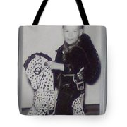 My Horse Black And White Tote Bag