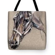 My Horse Portrait Drawing Tote Bag