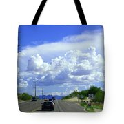My House Over The Hill Under The Clouds Tote Bag