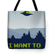 My I Want To Believe Minimal Poster Tote Bag