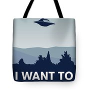 My I Want To Believe Minimal Poster-xfiles Tote Bag