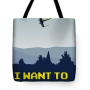 My I Want To Believe Minimal Poster- Xwing Tote Bag by Chungkong Art