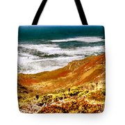 My Impression Of California Coastline Tote Bag