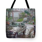 My Lincoln In The Rain Tote Bag