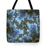 My Maui Fractal Art Abstract Palms And Blue Sky And Waters Tote Bag