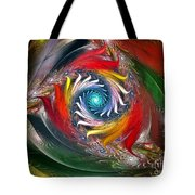 My My Beautiful Laundrette-fractal Art Tote Bag by Karin Kuhlmann
