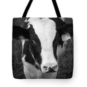 My Name Is Cow - Black And White Tote Bag