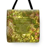 My New Year's Resolution Is . . . Poem And Image Tote Bag