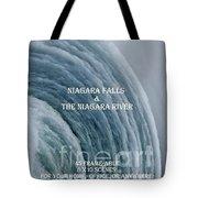My Niagara Falls And Niagara River Book Tote Bag