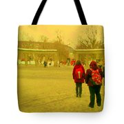 My Old Alma Mater Mcgill University Golden Olden Days Montreal Memories City Scenes Carole Spandau Tote Bag