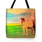 An Old Icelandic Mare, What Is Going On Inside Of Her  Tote Bag