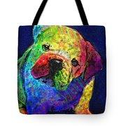 My Psychedelic Bulldog Tote Bag