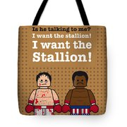 My Rocky Lego Dialogue Poster Tote Bag