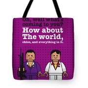 My Scarface Lego Dialogue Poster Tote Bag