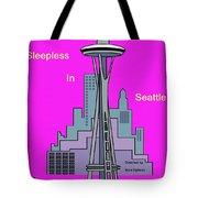 My Sleepless In Seattle Movie Poster Tote Bag