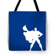 My Superhero 03 Super Blue Minimal Poster Tote Bag