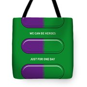 My Superhero Pills - The Hulk Tote Bag by Chungkong Art