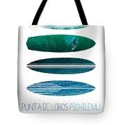 My Surfspots Poster-3-punta De Lobos-chile Tote Bag