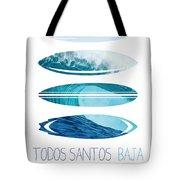 My Surfspots Poster-6-todos-santos-baja Tote Bag by Chungkong Art