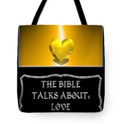 My The Bible Talks About Love Book Tote Bag