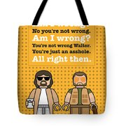 My The Big Lebowski Lego Dialogue Poster Tote Bag