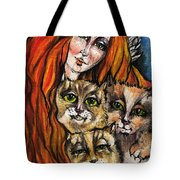 My Three Cats Tote Bag