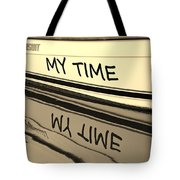 My Time Boat Name Tote Bag