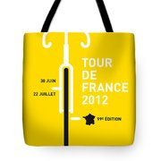My Tour De France 2012 Minimal Poster Tote Bag by Chungkong Art