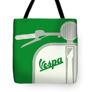 My Vespa - From Italy With Love - Green Tote Bag