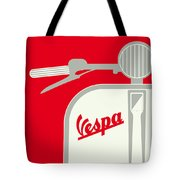 My Vespa - From Italy With Love - Red Tote Bag