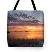 My World This Morning - Toronto Skyline At Sunrise Tote Bag