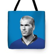 My Zidane Soccer Legend Poster Tote Bag
